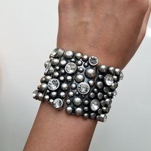 Jewelry - Bubble Metal and CZ Bangle